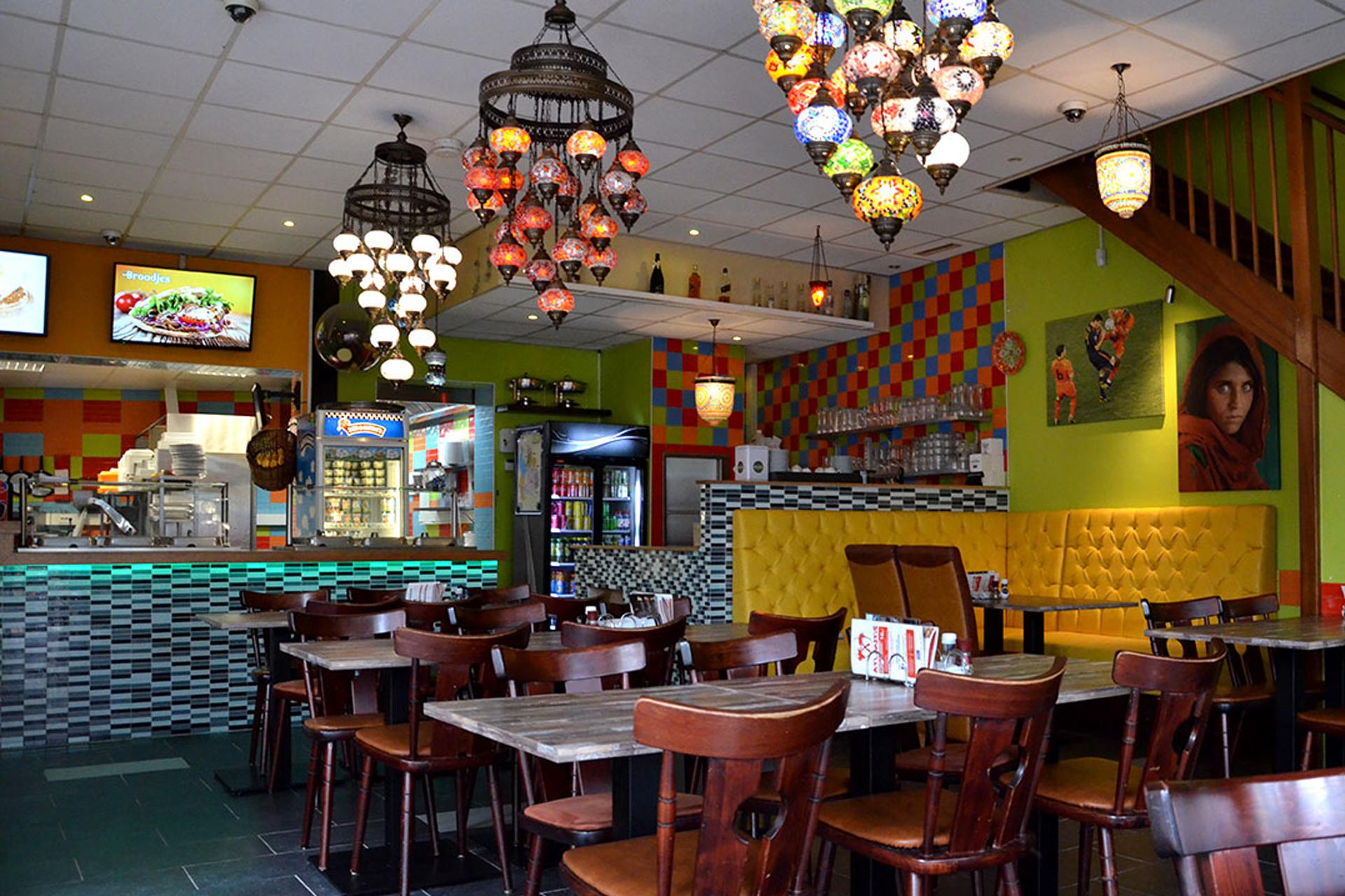 Grillroom Atlantis binnen in het restaurant